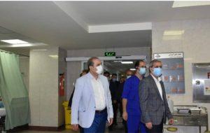 بازدید رییس دانشگاه به همراه جمعی از معاونین و مدیران از مجتمع آموزشی درمانی امام علی (ع)